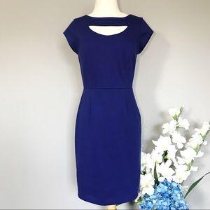 BANANA REPUBLIC cobalt workwear dress pencil 0